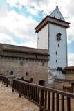 Estonia. Narva. Ancient fortress on border with Russia Stock Photos