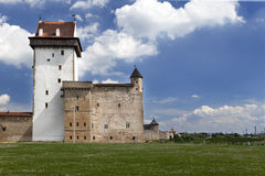 Estonia. Narva. Ancient fortress on border with Russia Royalty Free Stock Images