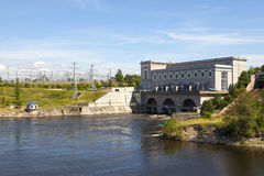 Estonia. Narva. Hydroelectric power station on the river Narva Stock Images