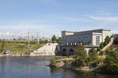 Estonia. Narva. Hydroelectric power station on the river Narva.  Royalty Free Stock Image