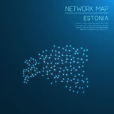 Estonia network map. Stock Photos