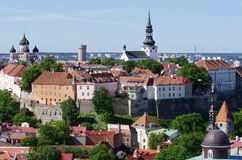 Estonia, old Tallinn Stock Image