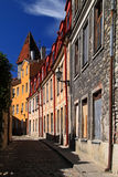 Estonia: Old town of Tallinn. One of the quiet streets in old town of Tallinn, the capital city of Estonia Royalty Free Stock Photography