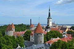 Estonia. Old town of Tallinn, Estonia royalty free stock image
