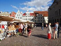Estonia oldest Market with a very long history Royalty Free Stock Images