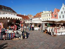 Estonia oldest Market with a very long history Royalty Free Stock Photography
