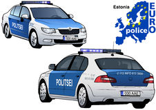 Estonia Police Car Stock Images