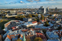 estonia rooftops tallinn Royaltyfria Foton