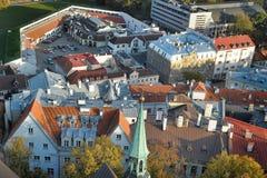 estonia rooftops tallinn Arkivbilder
