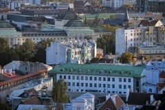 estonia rooftops tallinn Royaltyfri Foto