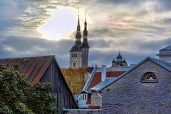 estonia rooftops tallinn Fotografering för Bildbyråer