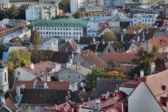 estonia rooftops tallinn Royaltyfri Fotografi
