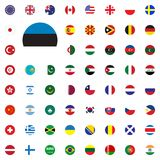 Estonia round flag icon. Round World Flags Vector illustration Icons Set. Estonia round flag icon. Round World Flags Vector illustration Icons Set Stock Images