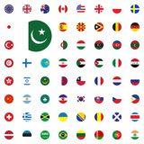 Pakistan round flag icon. Round World Flags Vector illustration Icons Set. Estonia round flag icon. Round World Flags Vector illustration Icons Set Royalty Free Stock Photo