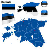estonia set Royaltyfria Bilder