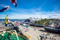 estonia tallinn Juli 15-18, 2017: Tallinn maritima dagar Royaltyfria Foton