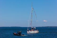 estonia tallinn Juli 15-18, 2017: Tallinn maritima dagar Royaltyfri Bild