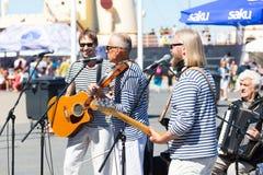 estonia tallinn Juli 15-18, 2017: Tallinn maritima dagar Fotografering för Bildbyråer