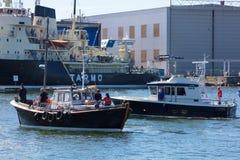 estonia tallinn Juli 15-18, 2017: Tallinn maritima dagar Arkivbilder