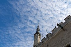 ESTONIA, TALLINN - JUNE 26, 2015: Ancient city wall tower royalty free stock photos