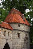 Estonia Tallinn Medieval wall Royalty Free Stock Image