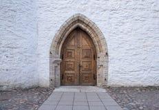 Estonia Tallinn Toompea, edificio viejo de la ciudad imagen de archivo