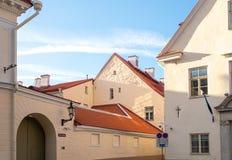 Estonia Tallinn Toompea, edificio viejo de la ciudad fotografía de archivo libre de regalías