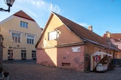 Estonia Tallinn Toompea, old town buildings royalty free stock photo