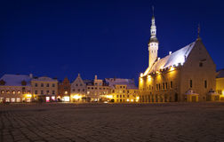 Estonia: Tallinn Town Hall Square Royalty Free Stock Photo
