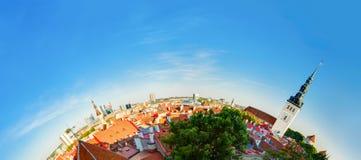 estonia tallinn Traditionell forntida arkitektur av gammal stadCityscape i historiskt område Arkivfoton