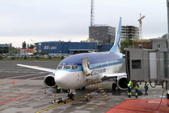Estonian Air 737 on the tarmac Stock Photo