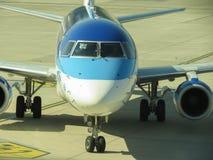 Estonian airlines aircraft Stock Image