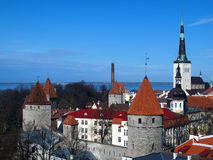 Estonian capital, Tallinn landscape. Tallinn landscape, view from the top of Old Town Stock Images