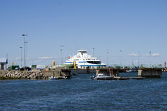 Estonian ferry berth Stock Images
