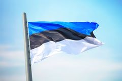 estonian flagę Zdjęcia Stock