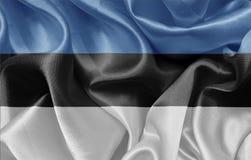 estonian flagę Zdjęcie Royalty Free