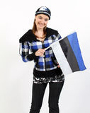 estonian flicka Arkivfoto