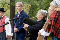 estonian folk Royaltyfri Foto