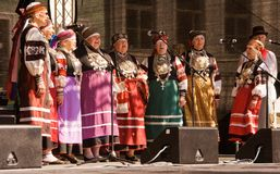 Estonian folk group Stock Photos