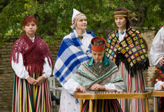Estonian folk music stock photos