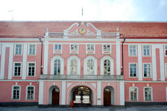 Estonian Parliament Building in  the old town of Tallin Stock Photo