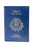 Estonian passport Stock Photo