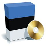 Estonian software box and CD Royalty Free Stock Photo