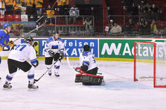 Estonian team misses a goal Stock Images