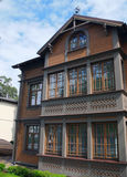 Estonian wooden house. Royalty Free Stock Images