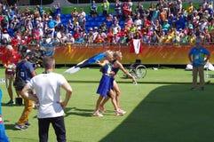 Estonians triplets at Rio2016 Stock Photo