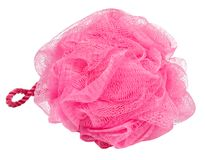 Estopa rosada del baño fotografía de archivo libre de regalías