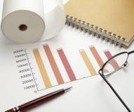 Estoque da carta do gráfico de negócio Imagem de Stock
