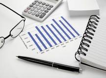 Estoque da carta do gráfico de negócio Fotos de Stock Royalty Free