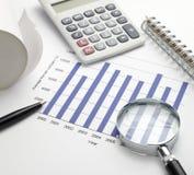 Estoque da carta do gráfico de negócio Foto de Stock Royalty Free